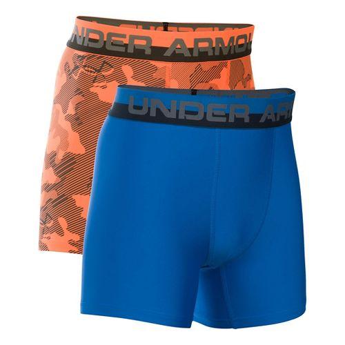 Under Armour Boys O-Series Novelty 2-Pack Boxer Brief Underwear Bottoms - Blaze Orange YXS