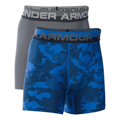 Under Armour Boys O-Series Novelty 2-Pack Boxer Brief Underwear Bottoms - Ultra Blue YXS