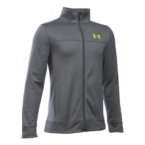 Under Armour Boys Pennant Warm-Up Running Jackets - Graphite YXL