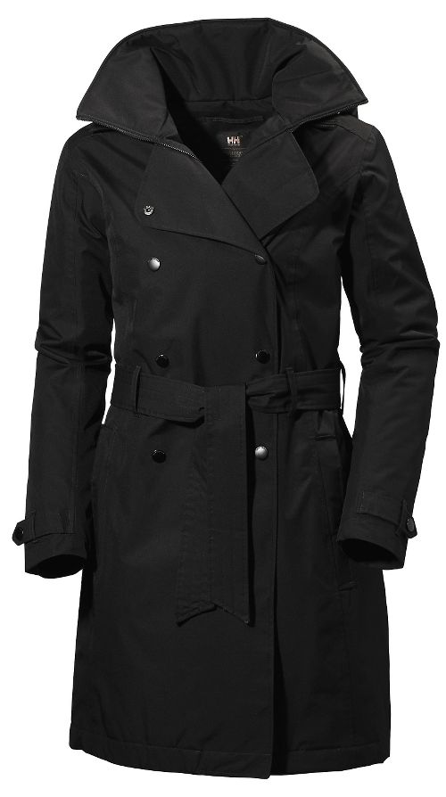 Womens Helly Hansen Welsey Trench Insulated Cold Weather Jackets - Black M