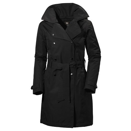 Womens Helly Hansen Welsey Trench Insulated Cold Weather Jackets - Black S