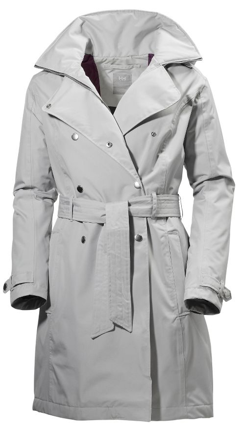 Womens Helly Hansen Welsey Trench Insulated Cold Weather Jackets - Light/ Grey L