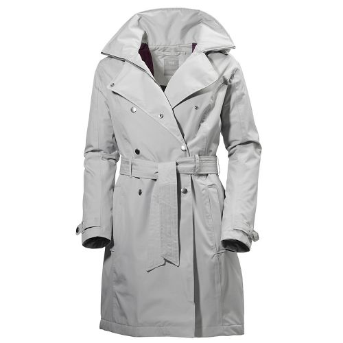 Womens Helly Hansen Welsey Trench Insulated Cold Weather Jackets - Light/ Grey M