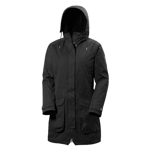 Womens Helly Hansen Kara Parka Cold Weather Jackets - Black XS