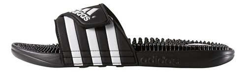 Mens adidas Adissage Sandals Shoe - Black/White 5