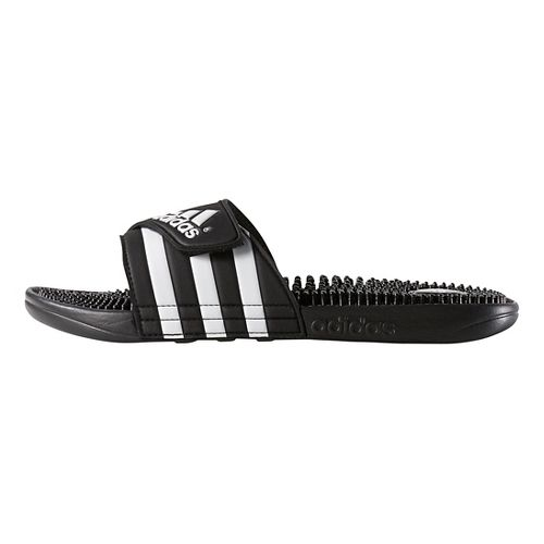 Mens adidas Adissage Sandals Shoe - Black/White 7