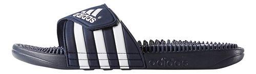 Mens adidas Adissage Sandals Shoe - New Navy/White 9
