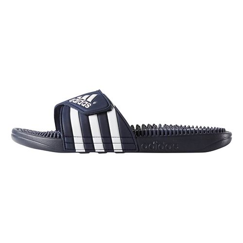 Mens adidas Adissage Sandals Shoe - New Navy/White 11