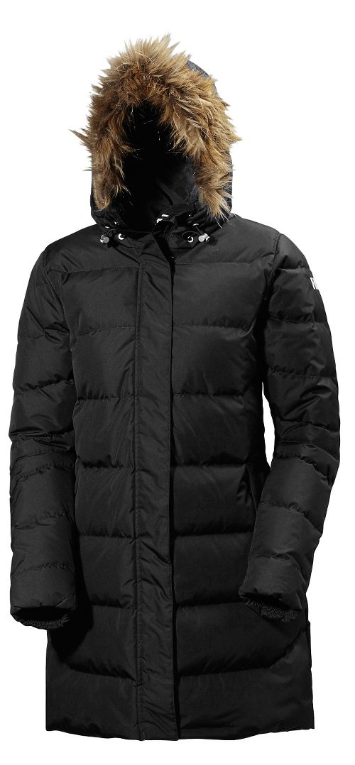 Womens Helly Hansen Aden Down Parka Cold Weather Jackets - Black S