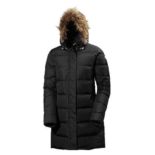 Womens Helly Hansen Aden Down Parka Cold Weather Jackets - Black S