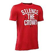Under Armour Boys Silence The Crowd T Short Sleeve Technical Tops