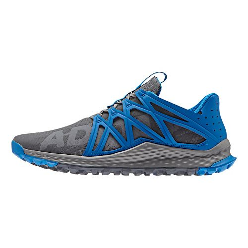 Mens adidas Vigor Bounce M Trail Running Shoe - Grey/Shock Blue 7.5
