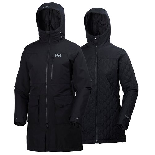 Womens Helly Hansen Rigging Coat Cold Weather Jackets - Black XS