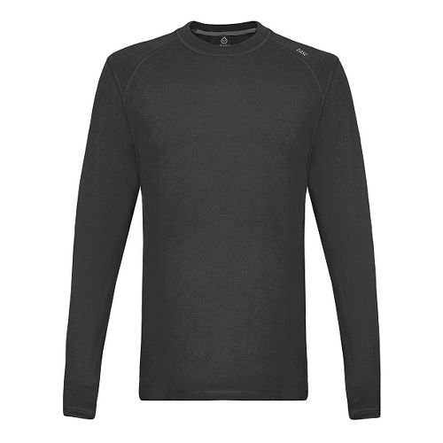 Mens Tasc Performance Beaver Falls Heather Long Sleeve Technical Tops - Black Heather XL
