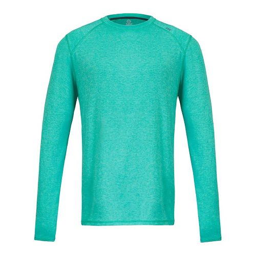 Mens Tasc Performance Beaver Falls Heather Long Sleeve Technical Tops - Maldives Heather S