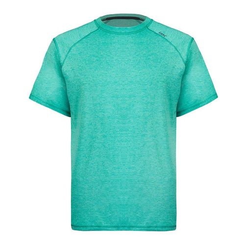 Mens Tasc Performance Carrollton T Heather Short Sleeve Technical Tops - Maldives Heather L