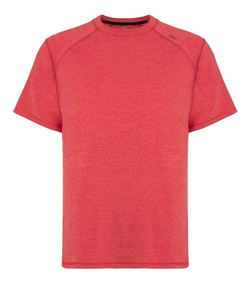 Mens Tasc Performance Carrollton T Heather Short Sleeve Technical Tops - Red Heather S