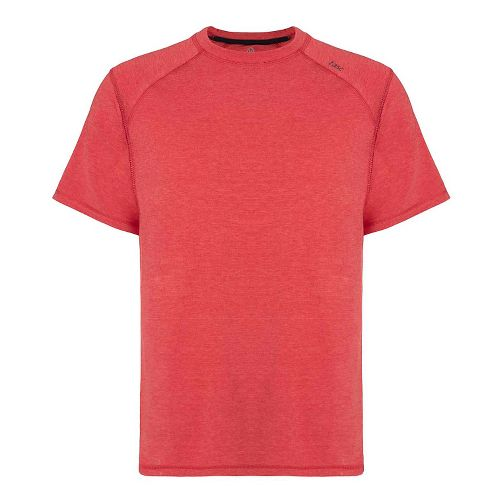 Mens Tasc Performance Carrollton T Heather Short Sleeve Technical Tops - Red Heather S