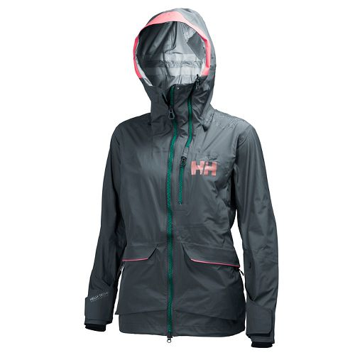 Womens Helly Hansen Aurora Shell Cold Weather Jackets - Rock XS