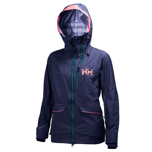 Womens Helly Hansen Aurora Shell Cold Weather Jackets - Evening Blue L