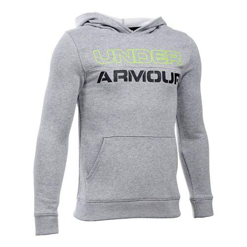 Under Armour Boys Sportstyle Graphic Half-Zips & Hoodies Technical Tops - True Grey Heather YL ...