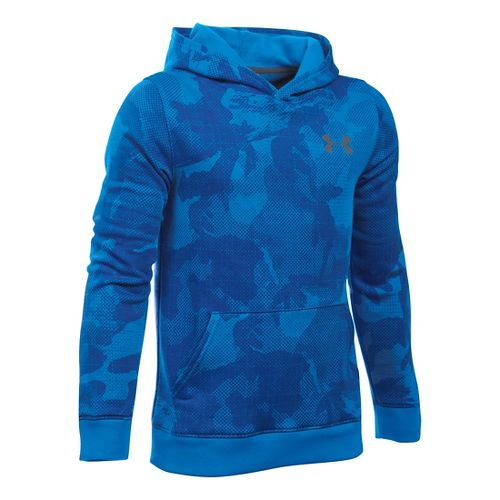Under Armour Boys Sportstyle Printed Half-Zips & Hoodies Technical Tops - Sailing Blue YM