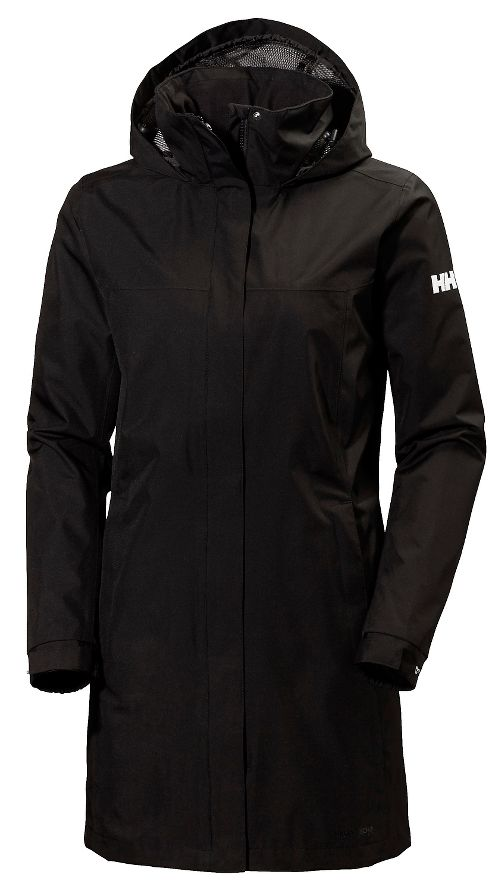 Womens Helly Hansen Aden Long Cold Weather Jackets - Black M