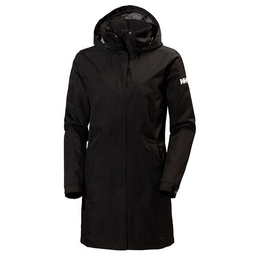 Womens Helly Hansen Aden Long Cold Weather Jackets - Black XS