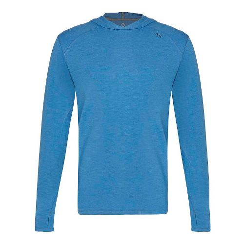 Mens Tasc Performance Coastline Heather Half-Zips & Hoodies Technical Tops - Blue Heather L