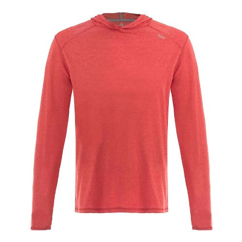 Mens Tasc Performance Coastline Heather Half-Zips & Hoodies Technical Tops - Red Heather XL