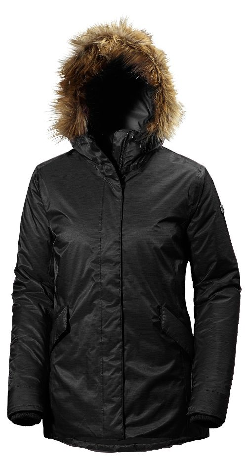 Womens Helly Hansen Hilton 2 Parka Cold Weather Jackets - Black M