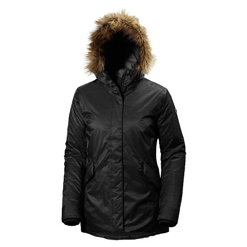 Womens Helly Hansen Hilton 2 Parka Cold Weather Jackets - Black XL