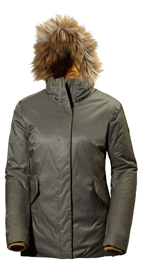 Womens Helly Hansen Hilton 2 Parka Cold Weather Jackets - Olive Night M