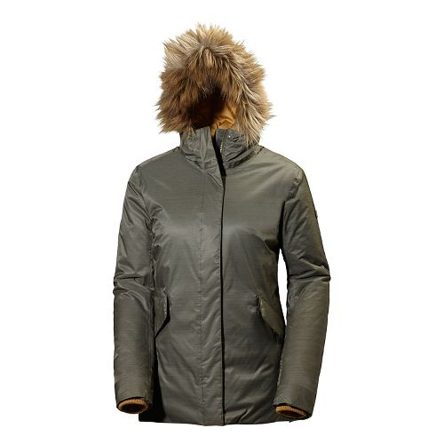 Womens Helly Hansen Hilton 2 Parka Cold Weather Jackets - Olive Night S