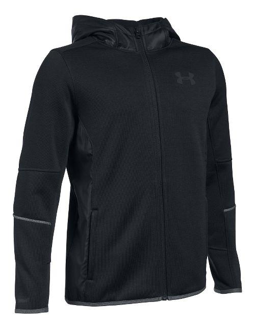 Under Armour Swacket Full-Zip Cold Weather Jackets - Navy/Mako Blue YXL
