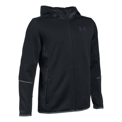 Under Armour Boys Swacket Full-Zip Cold Weather Jackets - Black YS