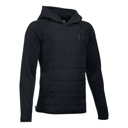 Under Armour Boys Swacket Insulated Half-Zips & Hoodies Technical Tops - Black YL