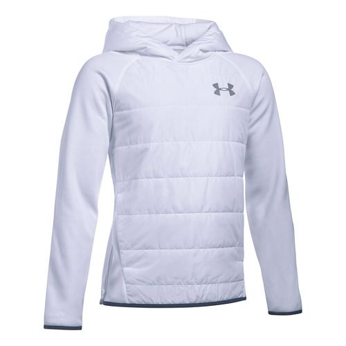 Under Armour Boys Swacket Insulated Half-Zips & Hoodies Technical Tops - White YS