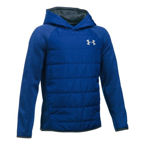 Under Armour Boys Swacket Insulated Half-Zips & Hoodies Technical Tops - Caspian YXS