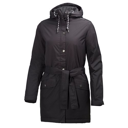 Womens Helly Hansen Lyness Insulated Coat Cold Weather Jackets - Black L