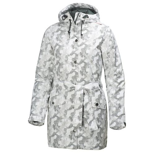 Womens Helly Hansen Lyness Insulated Coat Cold Weather Jackets - Offwhite Print M