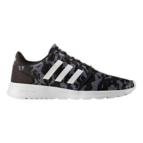Womens adidas Cloudfoam QT Racer Casual Shoe - Core Black/White 5.5