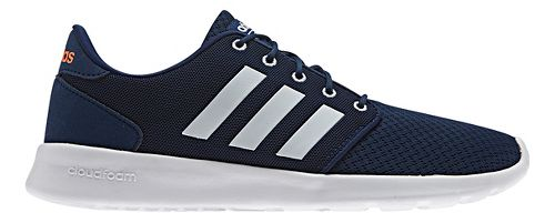 Womens adidas Cloudfoam QT Racer Casual Shoe - Navy/White 7