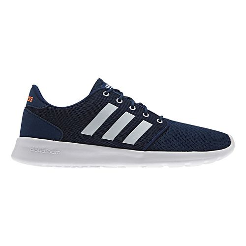 Womens adidas Cloudfoam QT Racer Casual Shoe - Navy/White 10