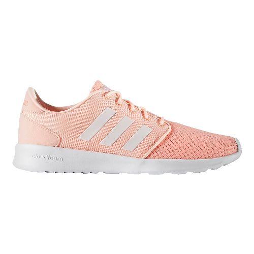 Womens adidas Cloudfoam QT Racer Casual Shoe - Haze Coral/White 5.5