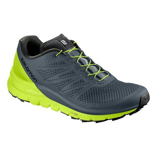 Mens Salomon Sense Pro Max Trail Running Shoe - Grey/Neon 10