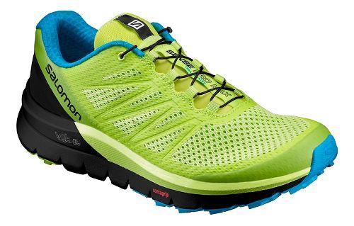 Mens Salomon Sense Pro Max Trail Running Shoe - Lime/Black 10.5