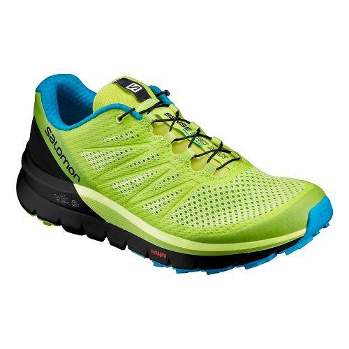 Mens Salomon Sense Pro Max Trail Running Shoe - Lime/Black 11.5