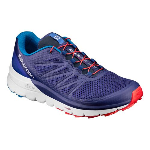 Mens Salomon Sense Pro Max Trail Running Shoe - Purple/White 10.5