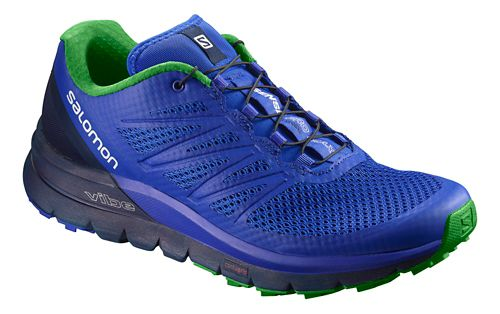 Mens Salomon Sense Pro Max Trail Running Shoe - Purple/Navy 7.5